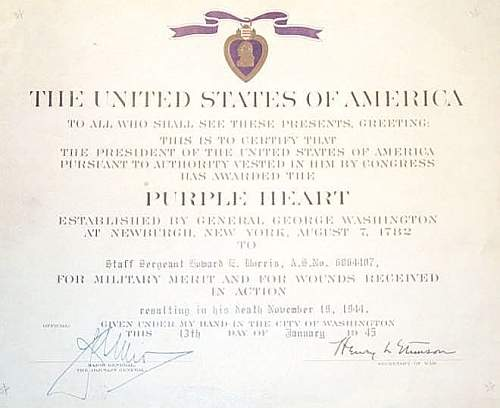 Click image for larger version.  Name:Purple Heart Certificates 018.jpg Views:328 Size:48.1 KB ID:76520