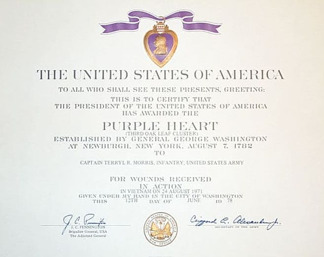 Purple Heart Spanning Three Wars Keeping It In The Family