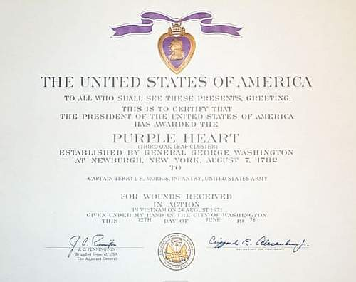 Click image for larger version.  Name:Purple Heart Certificates 005.jpg Views:467 Size:45.9 KB ID:76522