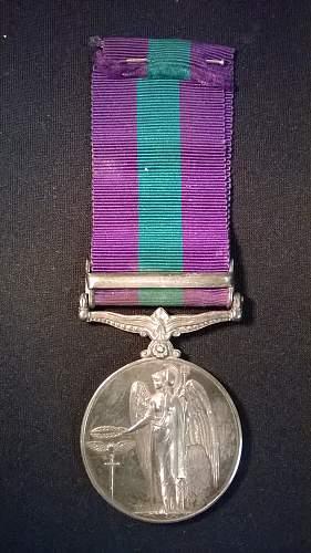 First GSM Medal Palestine 45-48