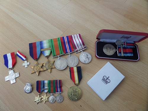 Royal Navy ww2 Mine sweeper medal group
