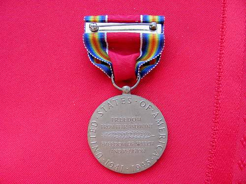 US Victory medal question