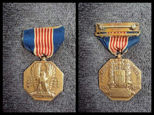 Ww2 soldiers medal named & numbered