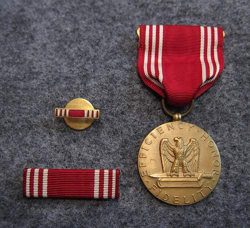 U.S. Good Conduct Medal WW2 - Named