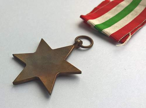 British - The Italy Star