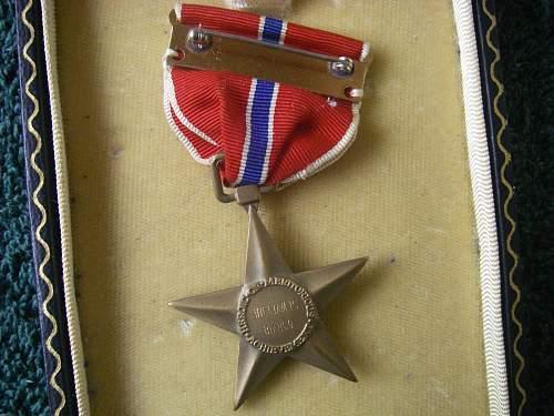 Bronze star medal named information