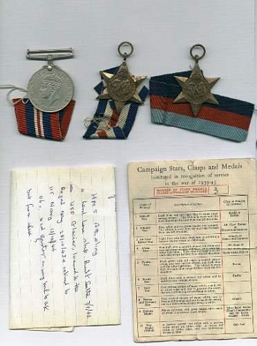 WW2 British campaign stars
