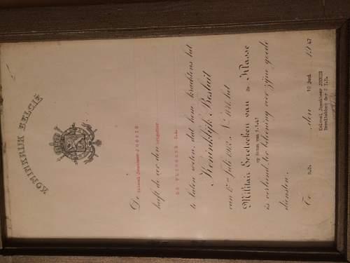 Certificate from Belgium