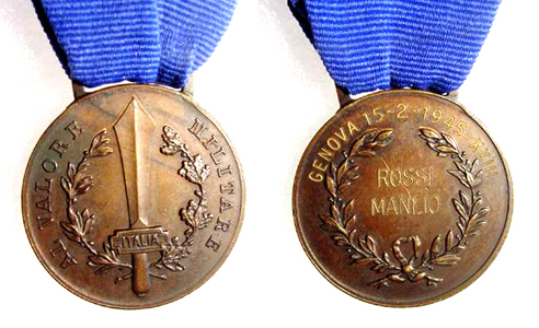 Strange italian Al valore militare medal