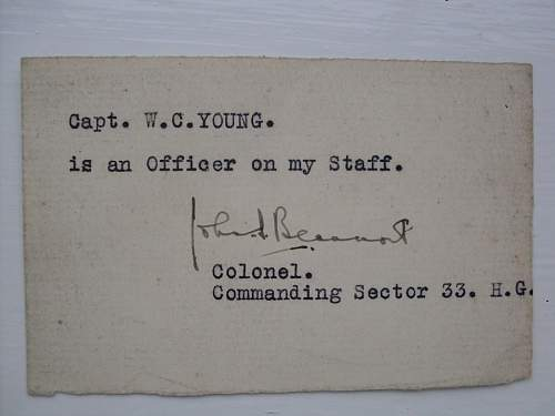 Home Guard Defence medal & paperwork