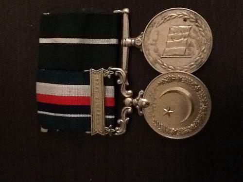 Post ww2 British medal pair.