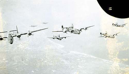 B-24 Nose Gunner Lot. Documentry film being made on him and his crew!
