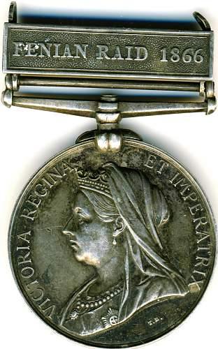 canada history medal fenian raid 1866