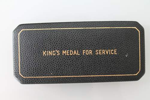 Case for the Kings Medal for Service