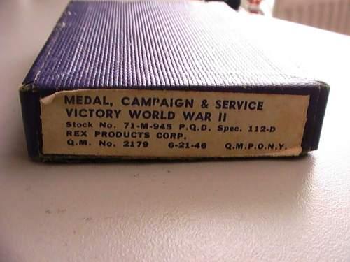 WW2 US victory medal
