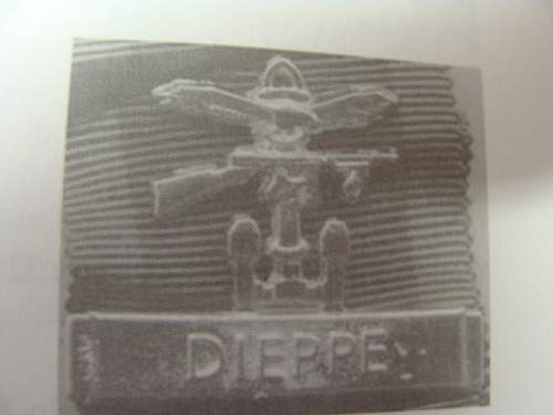 Dieppe Bar on Canadian Voluntary Service Medal
