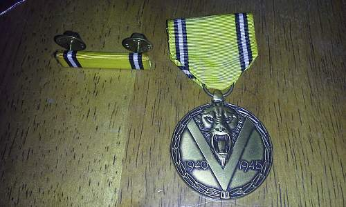 New acquisition. Belgian medal.