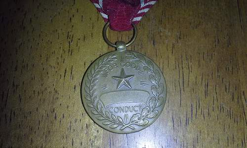 United States Good Conduct Medal.