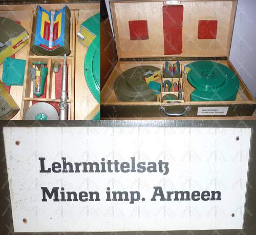 East German DDR/NVA Set of teaching aids (Kit) for landmines.