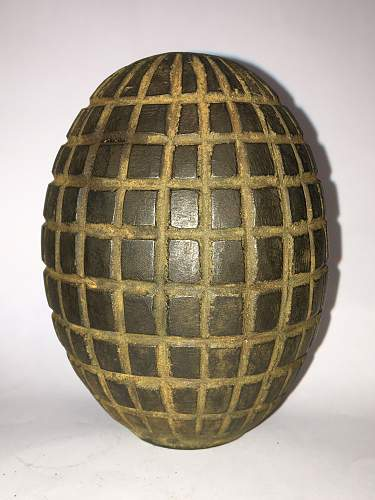 "The ""type 2 infantry grenade"" Turkish ottoman empire grenade, (1914)"