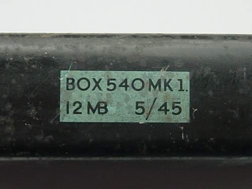 British Flare cartridge tin