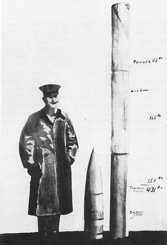 ID on a large German 1918 naval(?) casing?