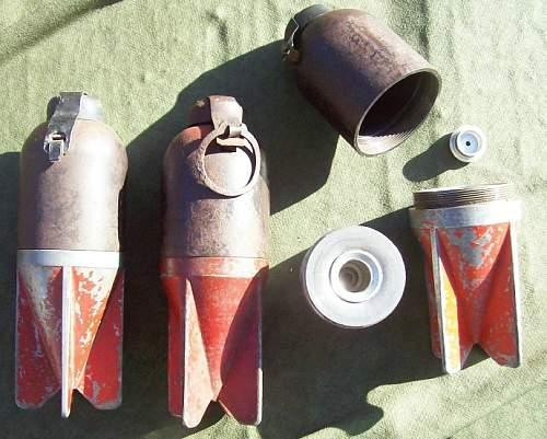 Italian 45mm Brixia Mortar Shells