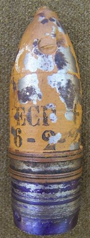 1922 Dated French sectioned 37mm Shell