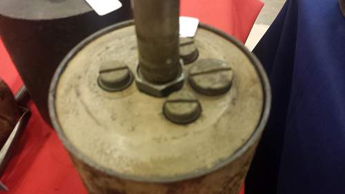 German S-Mine Bouncing Betty at show