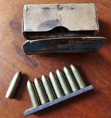 Rare C96 ammo in 9x25mm
