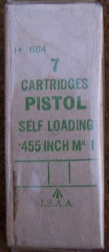 British .455 Automatic Ctg. Packet