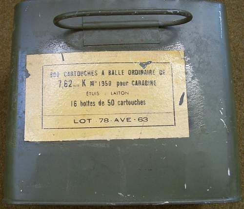 """French """"SPAM CAN' M1 Carbine Ammo"""