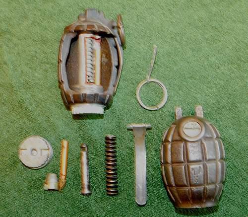 Cutaway instructional Mills Grenade