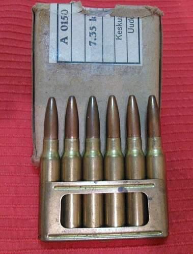 Finnish ammo box for carcano 7.35 ammo