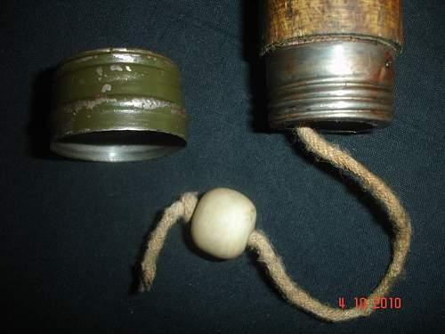 Hand grenade.  genuine or repro?