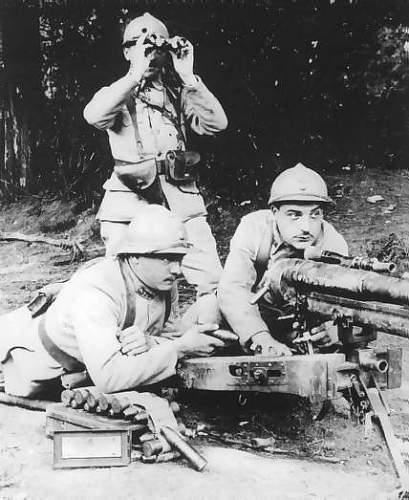 French WW1 37mm Hotchkiss shell - trench art