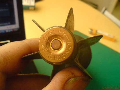 "British 2"" Red Smoke Mortar Shell"