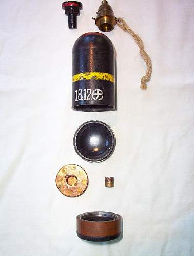 Japanese WWII Model 89 Knee Mortar Round. As complete as they come.