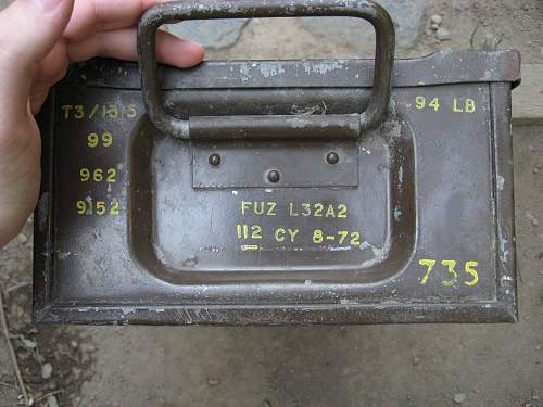 Need some help with this 105MM Howirzer ammo box