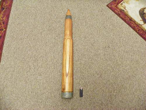 3 inch MK6 44 marked  Beautiful wood practice artillery shell.