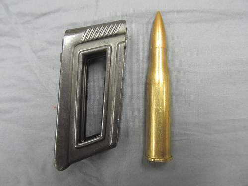 Nazi-marked Steyr M95 ammo and clip