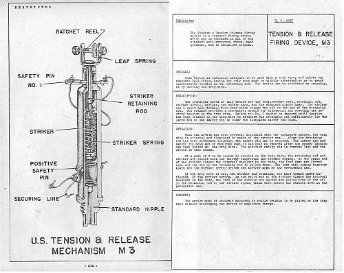 M1A1 and M5 WWII US Booby Trap Firing Devices