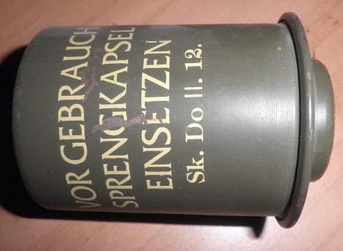M24 grenade and K98 bayonet