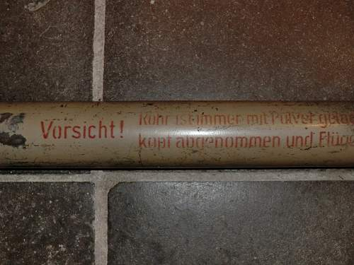 Panzerfaust tube with a difference.