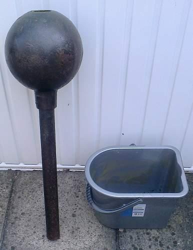 "WW1 British 2 inch mortar ""Toffee Apple"""