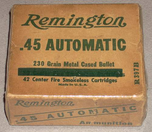 .45 ammo box with Royal connections