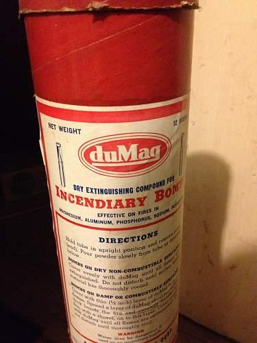 Dumag Incendiary Bomb Extinguishing compound