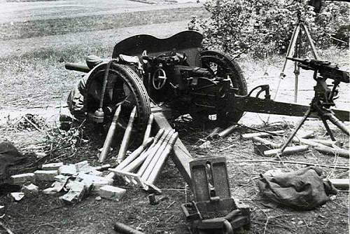 German shell PAK 75mm???And 13.2mm bullet??