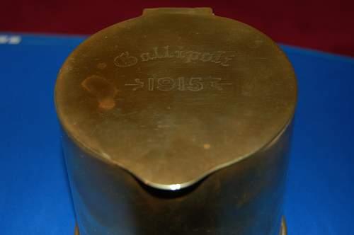 shell case, tobacco jar
