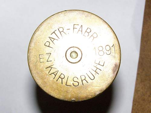 Need help pricing a shell from 1891 Part.Fabr.Karlsruhe